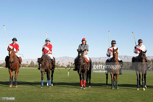 polo players and referee - polo stock pictures, royalty-free photos & images