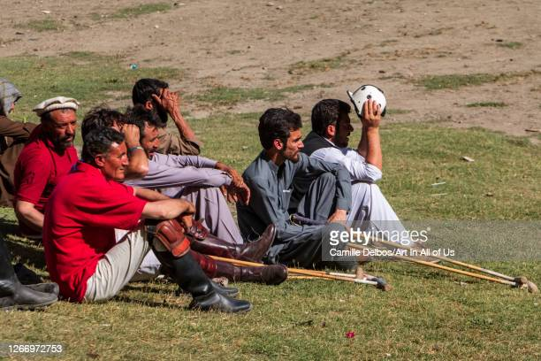 Polo players watching the game on Mai 25 2016 in Chitral Khyber Pakhtunkhwa Pakistan