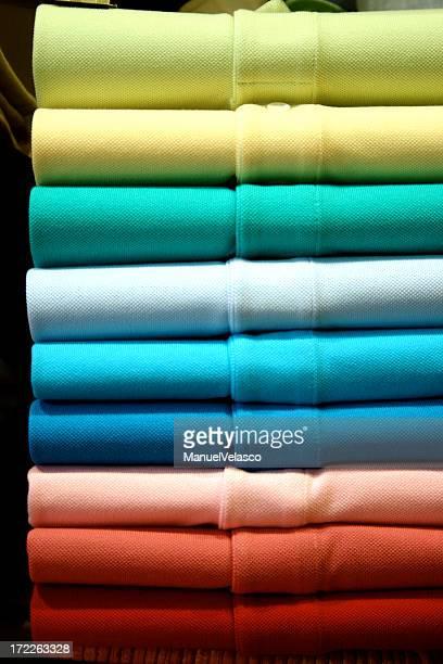 polo shirts (like a rainbow)