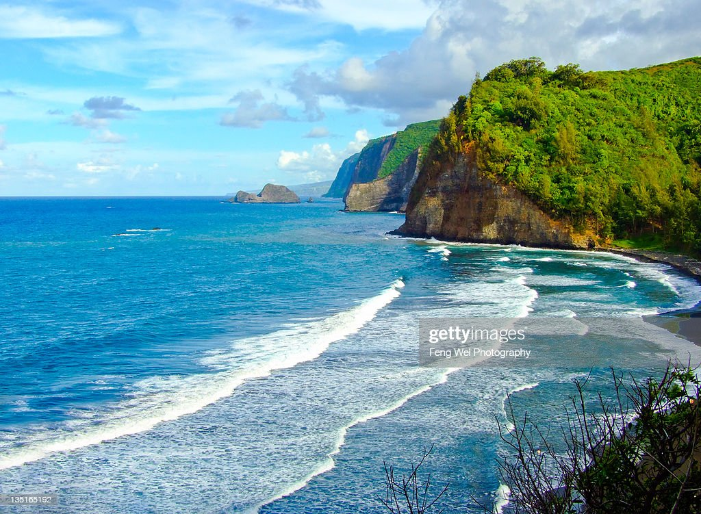 Pololu Valley in Big Island, Hawaii : Stock Photo