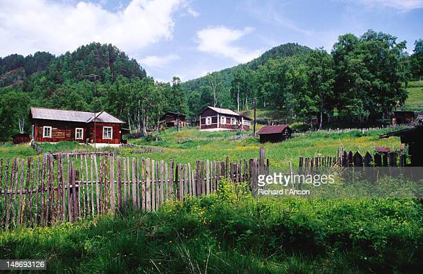 Polovinnay village on the Circumbaikal Railway.