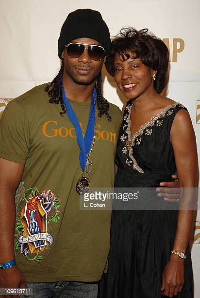 Polow and Jeanie Weems during 19th Annual ASCAP Rhythm Soul Awards Press Room at Beverly Hilton Hotel in Beverly Hills California United States