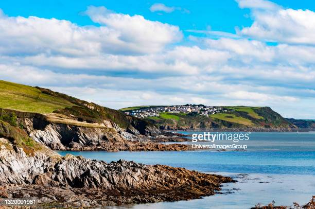 Polridmouth cove in south east cornwall, england, britain, uk.