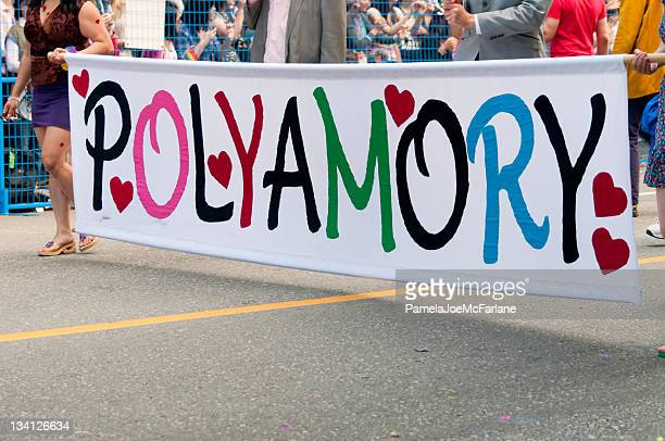polyamory banner - polyamory stock photos and pictures
