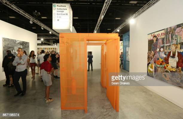 A polyester and stainless steel installation by Do Ho Suh on exhibit during Art Basel Miami Beach at Miami Beach Convention Center on December 06...