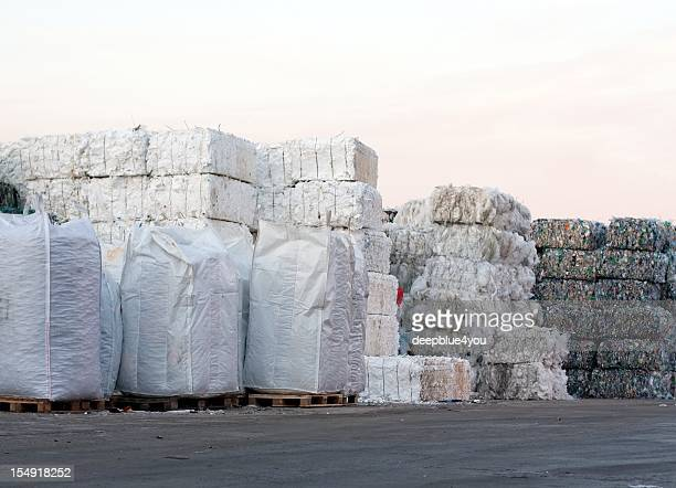 polyethylen recycling - landfill stock photos and pictures