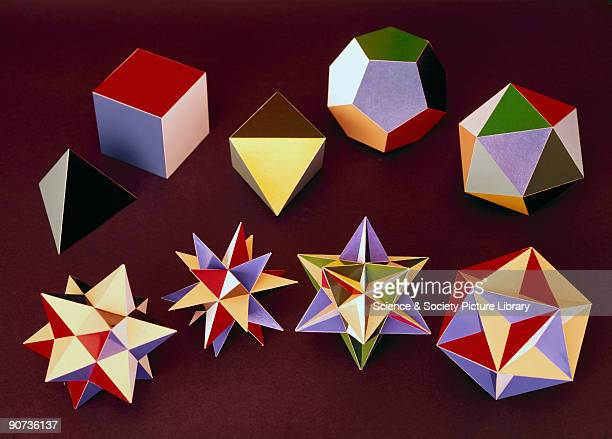 A polyhedron is said to be regular when all its faces are identical regular polygons There are nine regular polyhedra the five Platonic solids seen...