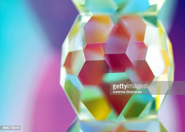 Polyhedron-Shaped Glass Prism and Colorful Light