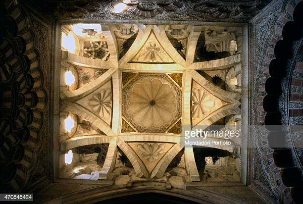 'Polylobated arches at the Cordoba Great Mosque by Spanish Romanic craftsmen 961976 and from 1236 10th and 13th Century carved stone and marble Spain...