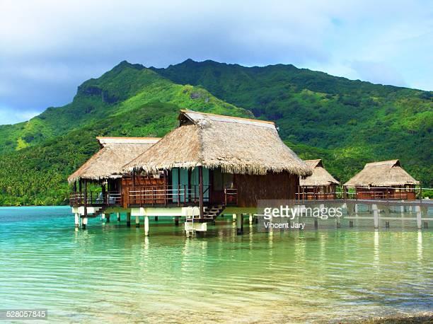 Polynesian house on stilts