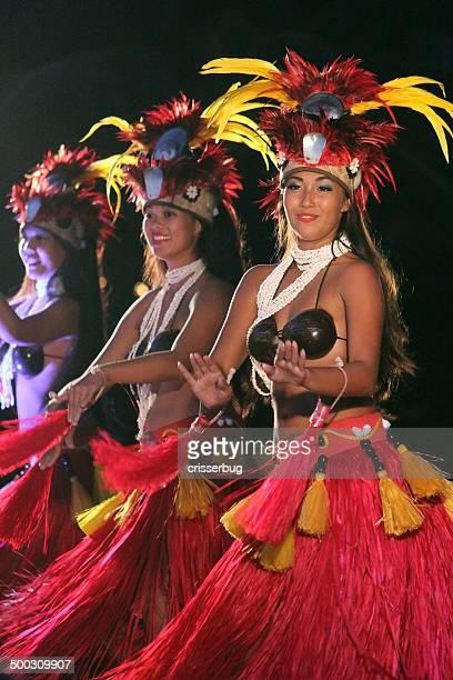 Polynesian Hula Dancers at a Luau - Maui, Hawaii