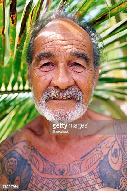 Polynesian man with tattoos