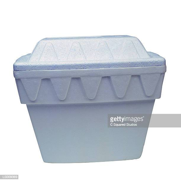 polystyrene cooler - polystyrene stock pictures, royalty-free photos & images