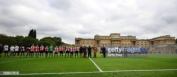 Polytechnic FC play Civil Service FC in a Southern Amateur League football match in the grounds of Buckingham Palace to mark the Football...