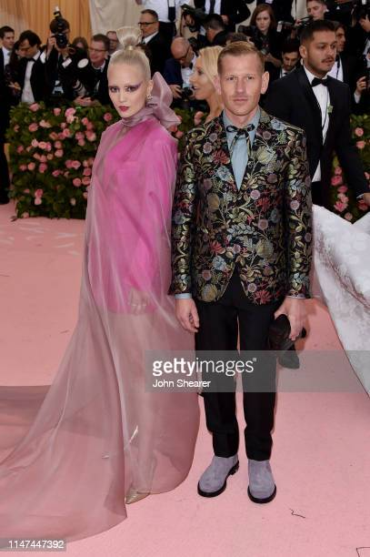 Pom Klementieff and Paul Andrew attend The 2019 Met Gala Celebrating Camp: Notes On Fashion at The Metropolitan Museum of Art on May 06, 2019 in New...