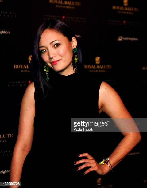 Pom Klementieff arrives at Park Plaza on December 7 2013 in Los Angeles California