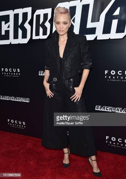 Pom Klementieff arrives at the premiere of Focus Features' 'BlacKkKlansman' at Samuel Goldwyn Theater on August 8 2018 in Beverly Hills California
