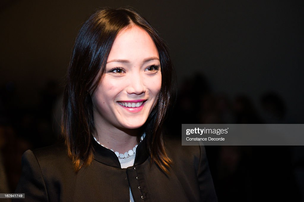 Pom Klementieff at the Vanessa Bruno Fall/Winter 2013 Ready-to-Wear show as part of Paris Fashion Week at Grand Palais on March 1, 2013 in Paris, France.