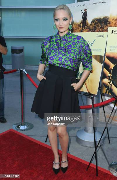 Pom Klementieff attends Magnolia Pictures' 'Damsel' Premiere at ArcLight Hollywood on June 13 2018 in Hollywood California