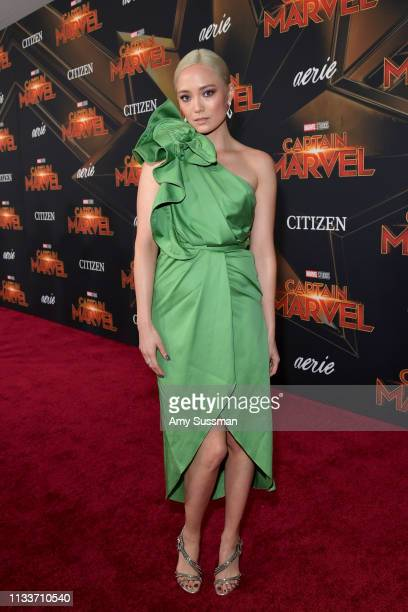 Pom Klementieff attends Marvel Studios Captain Marvel Premiere on March 04 2019 in Hollywood California