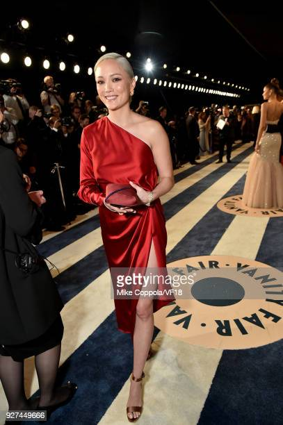 Pom Klementieff attends the 2018 Vanity Fair Oscar Party hosted by Radhika Jones at Wallis Annenberg Center for the Performing Arts on March 4 2018...
