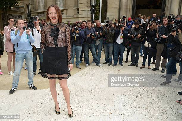 Pom Klementieff attends the Alexis Mabille show as part of the Paris Fashion Week Womenswear Spring/Summer 2015 on September 24 2014 in Paris France