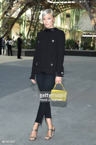 Pom Klementieff attends the Chanel Haute Couture Fall/Winter 20172018 show as part of Haute Couture Paris Fashion Week on July 4 2017 in Paris France