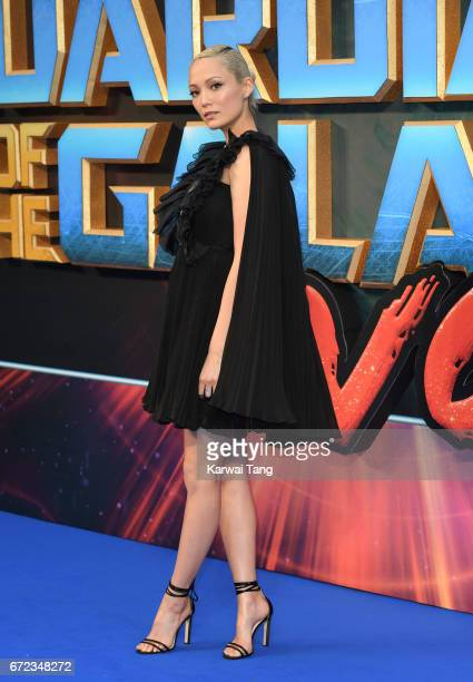 Pom Klementieff attends the European Gala screening of 'Guardians of the Galaxy Vol 2' at Eventim Apollo on April 24 2017 in London United Kingdom