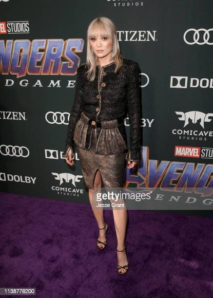 Pom Klementieff attends the Los Angeles World Premiere of Marvel Studios' Avengers Endgame at the Los Angeles Convention Center on April 23 2019 in...