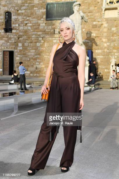 Pom Klementieff attends the Salvatore Ferragamo show during Pitti Immagine Uomo 96 on June 11 2019 in Florence Italy