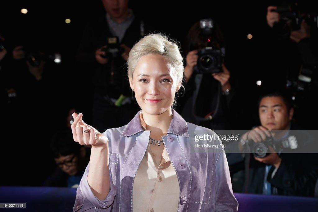 Pom Klementieff attends the Seoul premiere of 'Avengers Infinity War' on April 12, 2018 in Seoul, South Korea.