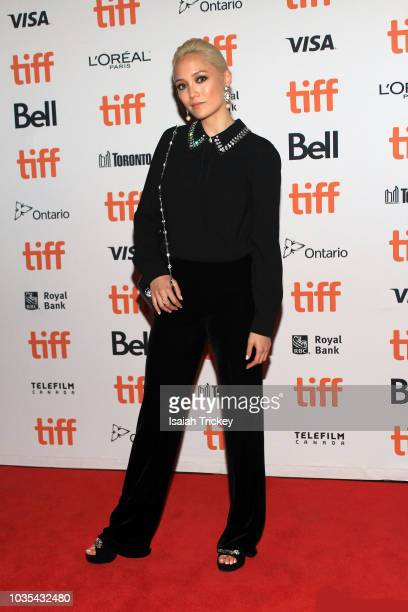 Pom Klementieff attends the 'The Sisters Brothers' premiere during 2018 Toronto International Film Festival at Princess of Wales Theatre on September...