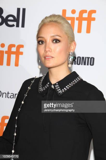 Pom Klementieff attends the 'The Sisters Brothers' Premiere during the 2018 Toronto International Film Festival at Princess of Wales Theatre on...
