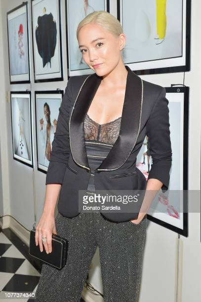 Pom Klementieff attends W Magazine Celebrates Its 'Best Performances' Portfolio and the Golden Globes with Audi and Giorgio Armani Beauty at Chateau...