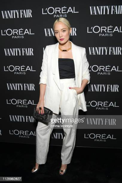 Pom Klementieff is seen as Vanity Fair and L'Oréal Paris Celebrate New Hollywood on February 19 2019 in Los Angeles California