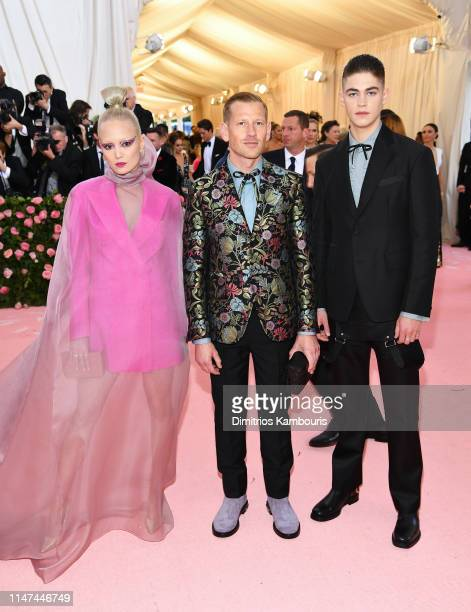 Pom Klementieff Paul Andrew and Hero FiennesTiffin attend The 2019 Met Gala Celebrating Camp Notes on Fashion at Metropolitan Museum of Art on May 06...