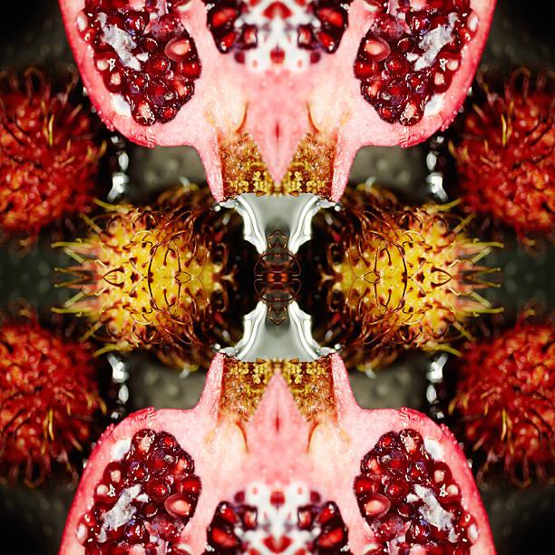Pomegranate and Rambutan fruit