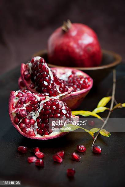 pomegranate still life - pomegranate stock pictures, royalty-free photos & images