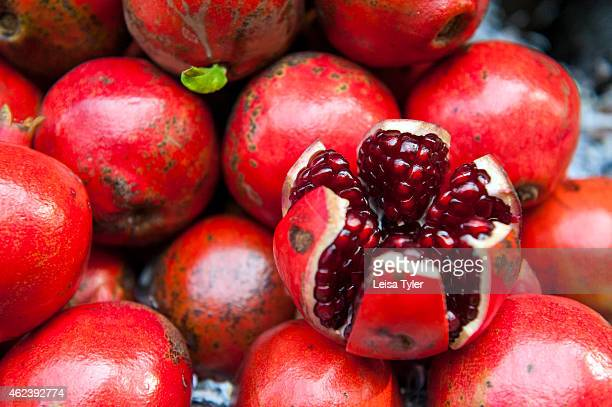 Pomegranates at Burra Bazar otherwise known as Bara Bazar and one of India's biggest wholesale markets Situated in central Kolkata the market dates...