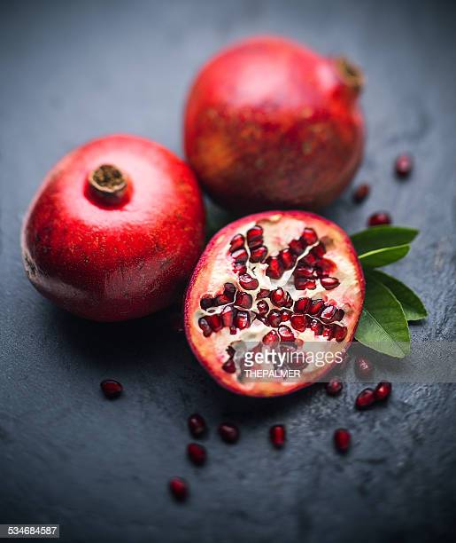 Pomegranates on stone