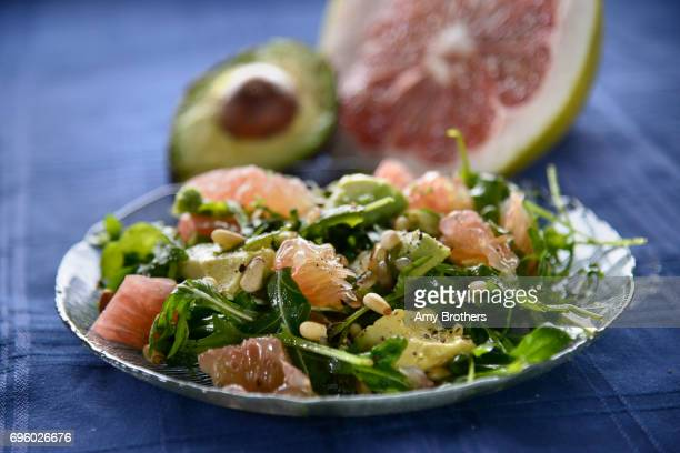 Pomelo and avocado said shoot for citrus recipe package in Denver January 24 2017