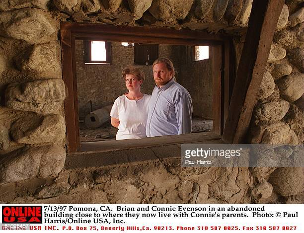 Pomona, Ca. Brian And Connie Evenson In An Abandoned Building Close To Where They Now Live With Connie's Parents.