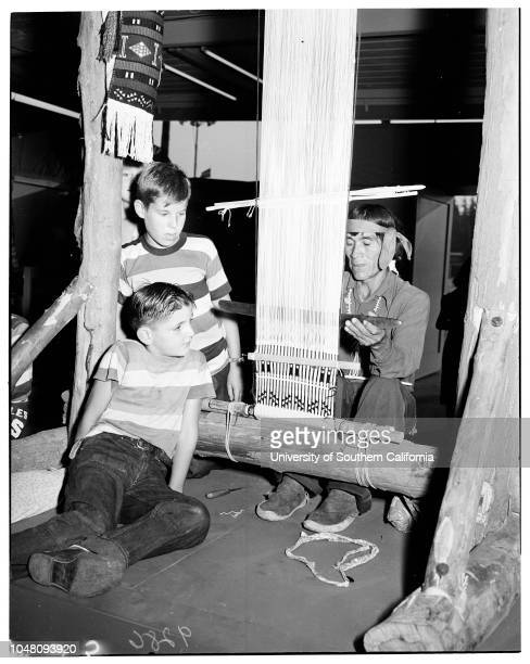 Pomona Fair, 14 September 1951. Tich Lennon;Linda Ducan;Raymond Ducan;John David Glen;Bayleen Glasscock -- 11 years;Frank Abrthy -- 10 years;Larry...