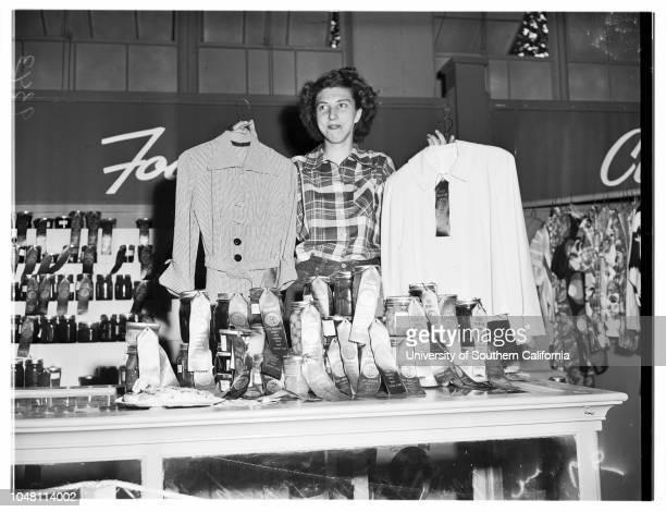 Pomona Fair , 29 September 1951. Miss Betty Beach -- 17 years; winner of 20 Blue Ribbons.2288 South Benson Avenue; Ontario; California; USA.