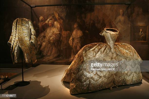 Pomp and ceremonies of the royal court' exhibition at Versailles Castle in Versailles France on January 04th 2009 The wedding dress Edwige Elisabeth...