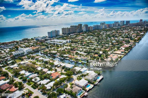 Pompano Beach and Fort Lauderdale Aerial