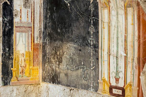 Pompeii archaeological site, Domus dei Casti Amanti (House of the Chaste Lovers)