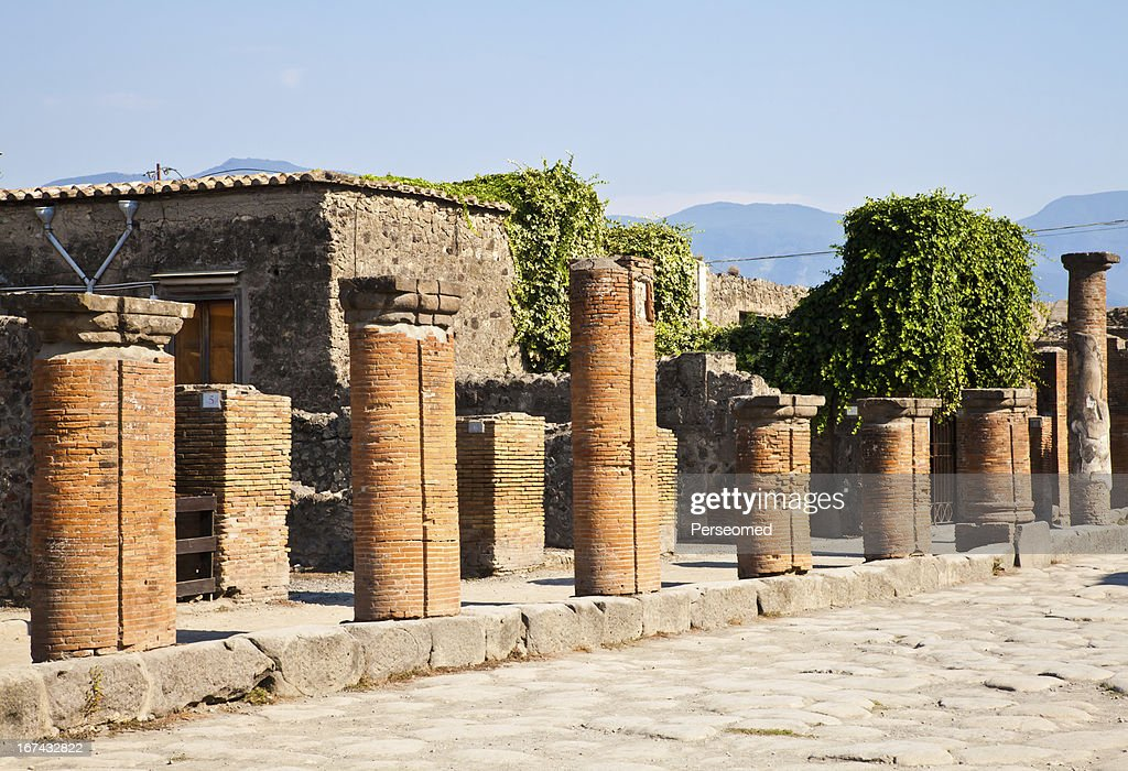 Pompeii - archaeological site : Stock Photo