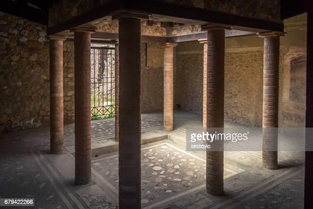pompeii, italy-ancient architecture - pompeii stock photos and pictures