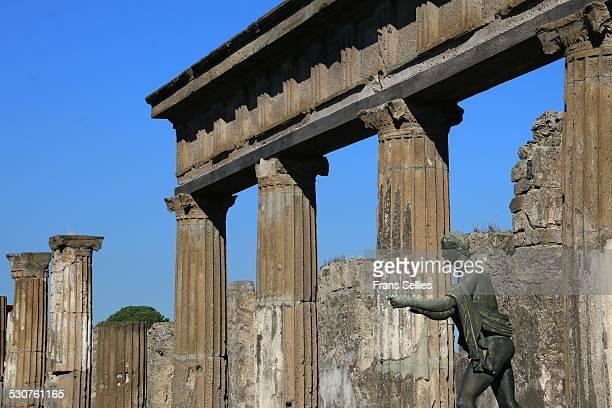 Pompeii, statue of Apollo at the Temple of Apollo